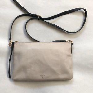 Beautiful Fossil pebbled leather crossbody purse